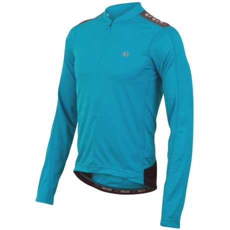 Pearl Izumi Quest Cycling Jersey - Zip Neck, Long Sleeve (For Men) in Electric Blue