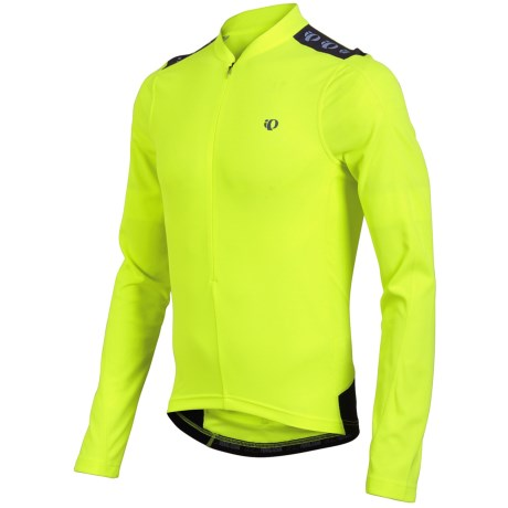 Pearl Izumi Quest Cycling Jersey - Zip Neck, Long Sleeve (For Men) in Screaming Yellow
