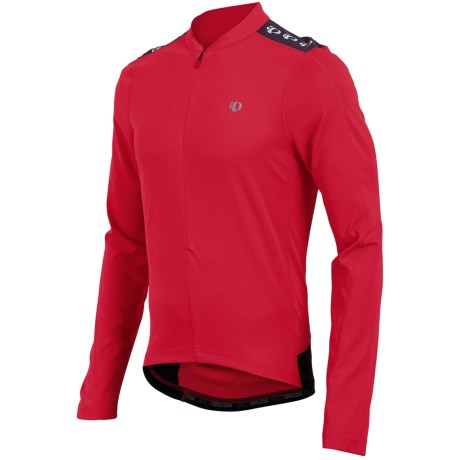 Pearl Izumi Quest Cycling Jersey - Zip Neck, Long Sleeve (For Men) in True Red