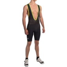 Pearl Izumi Quest Splice Bib Shorts (For Men) in Black/Screaming Yellow - Closeouts