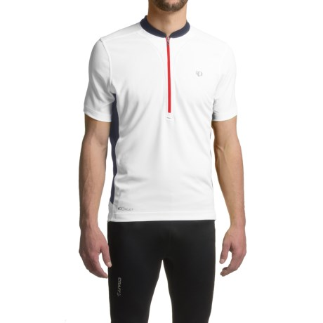 Pearl Izumi Quest Tour Cycling Jersey - Zip Neck, Short Sleeve (For Men) in White/Shadow Grey