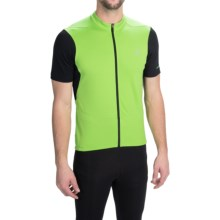 Pearl Izumi SELECT Attack Cycling Jersey - Full Zip, Short Sleeve (For Men) in Green Flash 15 - Closeouts