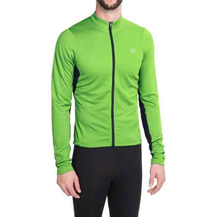 Pearl Izumi SELECT Attack Cycling Jersey - Long Sleeve (For Men) in Green Flash 15 - Closeouts