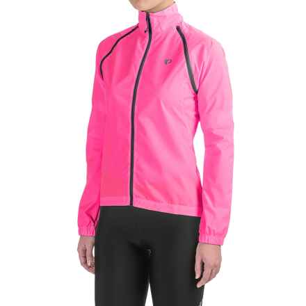 Pearl Izumi SELECT Barrier Convertible Jacket (For Women) in Screaming Pink - Closeouts
