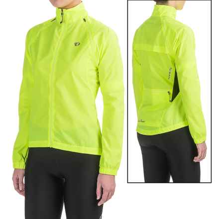 Pearl Izumi SELECT Barrier Convertible Jacket (For Women) in Screaming Yellow/Black - Closeouts