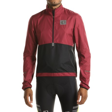 Pearl Izumi SELECT Barrier Lite Jacket - Zip Neck (For Men) in Tibetan Red/Black