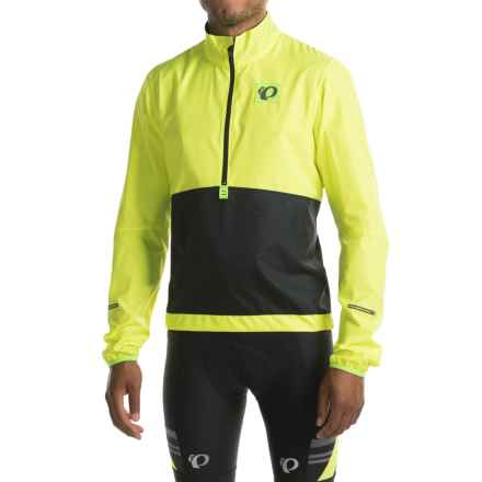 Pearl Izumi SELECT Barrier Pullover Jacket - Zip Neck (For Men) in Screaming Yellow/Black - Closeouts