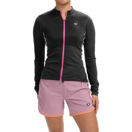 Pearl Izumi SELECT Cycling Jersey - Long Sleeve (For Women) in Black/Screaming Pink - Closeouts