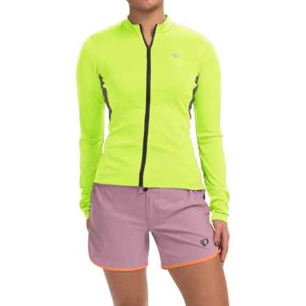 Pearl Izumi SELECT Cycling Jersey - Long Sleeve (For Women) in Screaming Yellow/Smoked Pearl - Closeouts