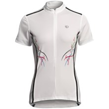 Pearl Izumi Select Cycling Jersey - UPF 40+, Zip Neck, Short Sleeve (For Women) in White Spyro - Closeouts