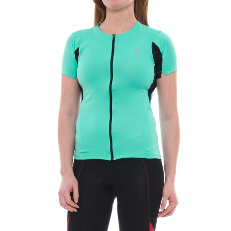 Pearl Izumi SELECT Cycling Jersey - UPF 50+, Short Sleeve (For Women) in Aqua Mint