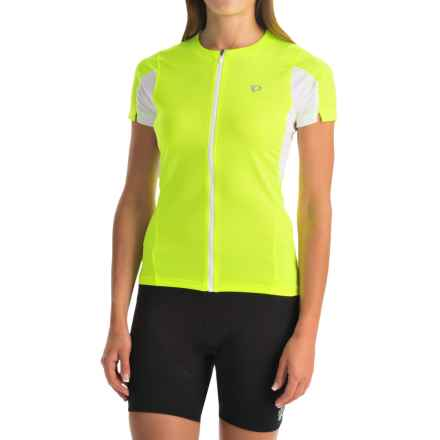 Pearl Izumi SELECT Cycling Jersey - UPF 50+, Short Sleeve (For Women) in Screaming Yellow - Closeouts