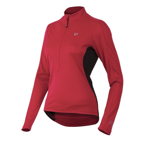 Pearl Izumi Select Cycling Jersey - Zip Neck, Long Sleeve (For Women) in Crimson