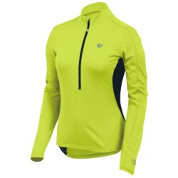Pearl Izumi Select Cycling Jersey - Zip Neck, Long Sleeve (For Women) in Lime