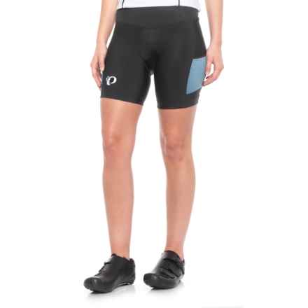 Pearl Izumi SELECT Escape Bike Shorts - UPF 50+ (For Women) in Black / Blue Steel Herringbo/S - Closeouts