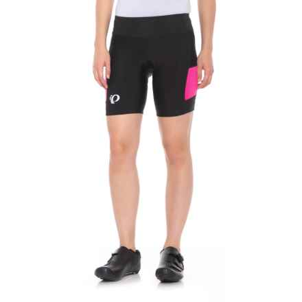Pearl Izumi SELECT Escape Bike Shorts - UPF 50+ (For Women) in Black/Screaming Pnk Herrngbone - Closeouts