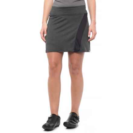 Pearl Izumi SELECT Escape Bike Skirt (For Women) in Black / Black Herringbone - Closeouts