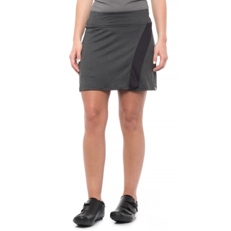 Pearl Izumi SELECT Escape Bike Skirt (For Women) in Black / Black Herringbone