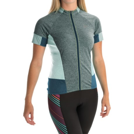 Pearl Izumi SELECT Escape Cycling Jersey - Full Zip, Short Sleeve (For Women) in Blue Steel