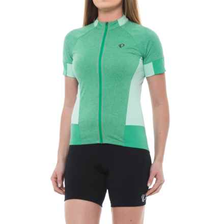Pearl Izumi SELECT Escape Cycling Jersey - Full Zip, Short Sleeve (For Women) in Green Spruce - Closeouts