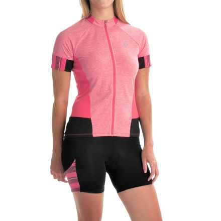 Pearl Izumi SELECT Escape Cycling Jersey - Full Zip, Short Sleeve (For Women) in Rouge Red - Closeouts