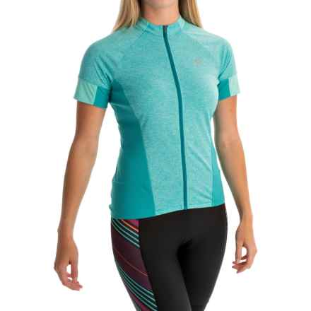 Pearl Izumi SELECT Escape Cycling Jersey - Full Zip, Short Sleeve (For Women) in Viridian Green - Closeouts