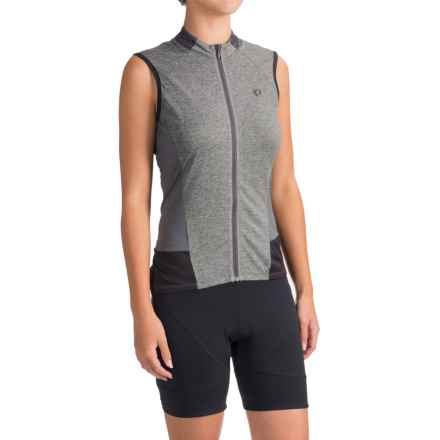 Pearl Izumi SELECT Escape Cycling Jersey - UPF 24+, Full Zip, Sleeveless (For Women) in Smoked Pearl Parquet - Closeouts