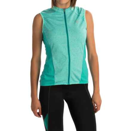 Pearl Izumi SELECT Escape Cycling Jersey - UPF 24+, Full Zip, Sleeveless (For Women) in Viridian Green - Closeouts