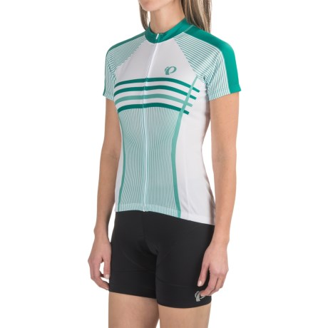 Pearl Izumi SELECT Escape LTD Cycling Jersey - Full Zip, Short Sleeve (For Women) in Classic Dynasty Green