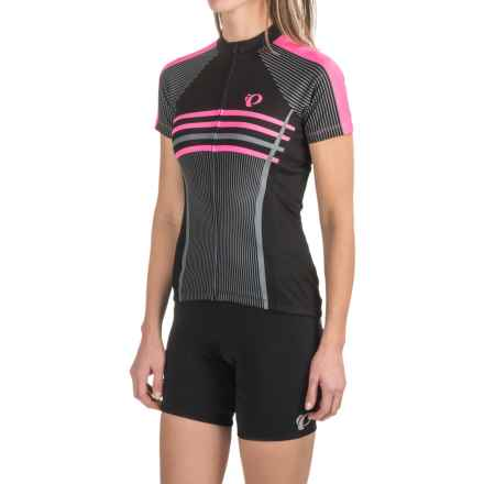 Pearl Izumi SELECT Escape LTD Cycling Jersey - Full Zip, Short Sleeve (For Women) in Classic Screaming Pink - Closeouts