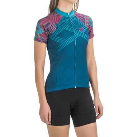 Pearl Izumi SELECT Escape LTD Cycling Jersey - Full Zip, Short Sleeve (For Women) in Floral Moroccan Blue - Closeouts