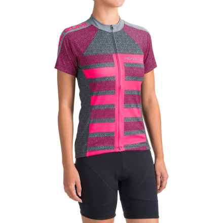 Pearl Izumi SELECT Escape LTD Cycling Jersey - Full Zip, Short Sleeve (For Women) in Focus Screaming Pink - Closeouts