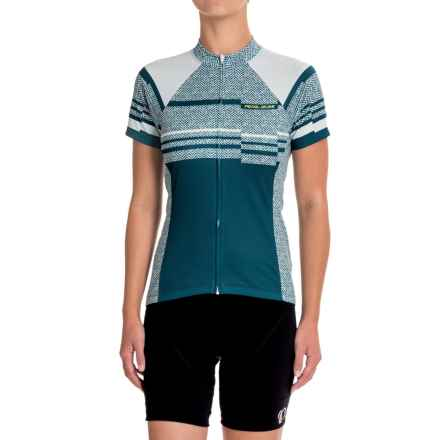 Pearl Izumi SELECT Escape LTD Cycling Jersey - Full Zip, Short Sleeve (For Women) in Wander Blue Steel - Closeouts