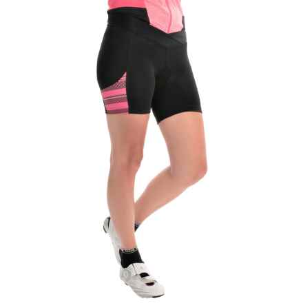 Pearl Izumi SELECT Escape Print Bike Shorts (For Women) in Black/Rouge Red Stripe - Closeouts