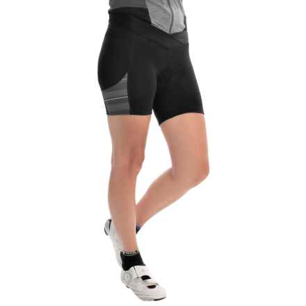 Pearl Izumi SELECT Escape Print Bike Shorts (For Women) in Black/Shadow Grey Print - Closeouts