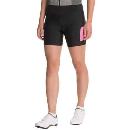 Pearl Izumi SELECT Escape Print Bike Shorts - UPF 50+ (For Women) in Black/Screamng Pink Parqut Stripe - Closeouts