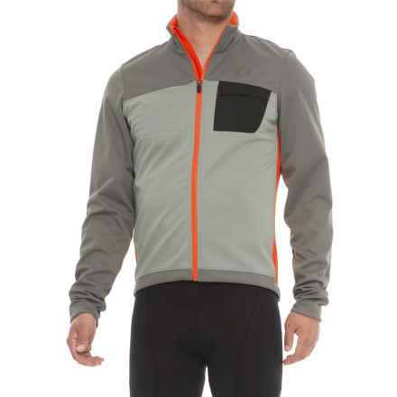 Pearl Izumi SELECT Escape Soft Shell Cycling Jacket  (For Men) in Smoked Pearl/ Orange.Com - Closeouts