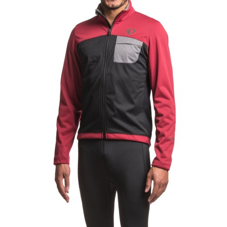 Pearl Izumi SELECT Escape Soft Shell Cycling Jacket (For Men) in Tibetan Red/Black