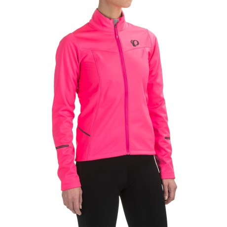 Pearl Izumi SELECT Escape Soft Shell Cycling Jacket (For Women) in Screaming Pink