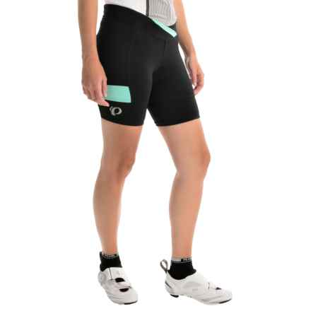 Pearl Izumi SELECT Escape Texture Bike Shorts (For Women) in Black/Aqua Mint - Closeouts