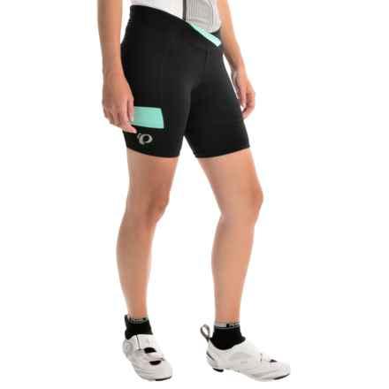 Pearl Izumi SELECT Escape Texture Bike Shorts (For Women) in Black/Aqua Mint - Closeouts