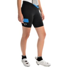 Pearl Izumi SELECT Escape Texture Bike Shorts (For Women) in Black/Sky Blue - Closeouts