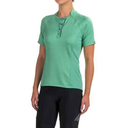 Pearl Izumi SELECT Escape Texture Cycling Jersey - UPF 50+, Short Sleeve (For Women) in Green Spruce Herringbone - Closeouts