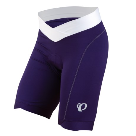 Pearl Izumi Select In-R-Cool® Cycling Shorts - UPF 50+ (For Women) in Blackberry/White
