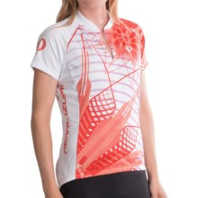 Pearl Izumi SELECT Limited Edition Cycling Jersey - Zip Neck, Short Sleeve (For Women) in Flower Living Coral - Closeouts