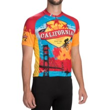 Pearl Izumi SELECT Limited Jersey - Zip Neck, Short Sleeve (For Men) in California State - Closeouts