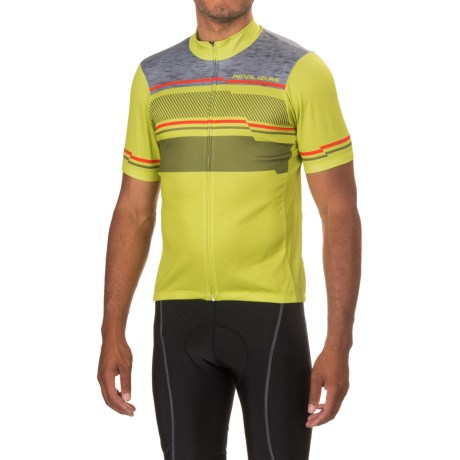 Pearl Izumi SELECT LTD Cycling Jersey - UPF 50+, Zip Front, Short Sleeve (For Men) in Drift Citron