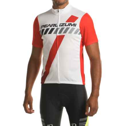 Pearl Izumi SELECT LTD Cycling Jersey - UPF 50+, Zip Front, Short Sleeve (For Men) in Flashback True Red - Closeouts