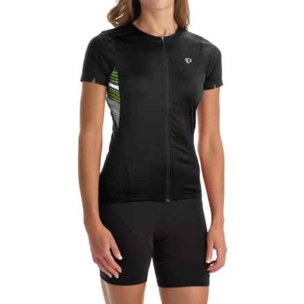 Pearl Izumi SELECT Print Cycling Jersey - UPF 50+, Full Zip, Short Sleeve (For Women) in Black Stripe - Closeouts