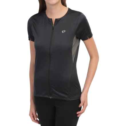 Pearl Izumi SELECT Print Cycling Jersey - UPF 50+, Full Zip, Short Sleeve (For Women) in Black - Closeouts